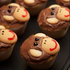 Curious George cupcakes! Much easier than a cake - especially with toddlers!