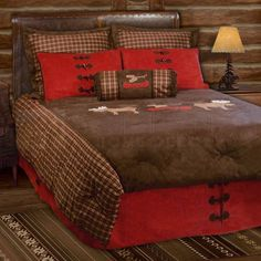 Sunland Home Decor: JB-1642 - Moose Plaid Lodge - Full-Queen Bedding Ensemble