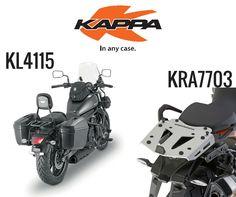KAPPA || Quase a chegar ao mercado português, os mais recentes produtos da kappa fazem a perfeita união entre design e utilidade! Confira hoje mesmo. E seja um dos primeiros a ter: - KL4115 | Porta malas laterais para a Kawasaki Vulcan 650 (15/16). Específico para Monokey. - KRA7703 | Monorack em alumínio para a KTM 1050 (15/16); 1190 (13/16); 1290 (15/16). Específico para Monokey.  Mais informações em geral@lusomotos.com  #lusomotos #kappa #viagem #design #utilidade #qualidade