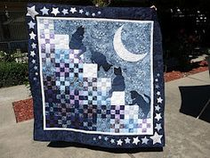 A Quilt of Heather: Stairway to Cat Heaven Quilt Complete!