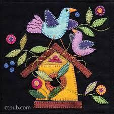 Resultado de imagen para birds wool stitch