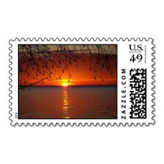 Belated Sunset Postage This postage stamp matches a belated sunset thank you card that says, a belated thank you. But is awesome enough to be used for any postage.