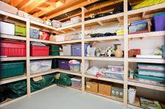 Basement Garage Shelving Design, Pictures, Remodel, Decor and Ideas – Garage Organization DIY