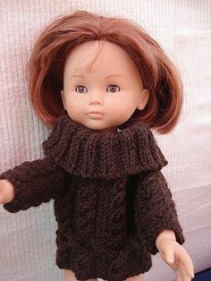 Fiche gratuite vêtements de poupées N°105: PULL TORSADE - Le blog de La malle ô trésor de Sylvie