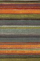 A carnival of color this striped rug is fresh and fun.  A best seller for its bright and bold colors.
