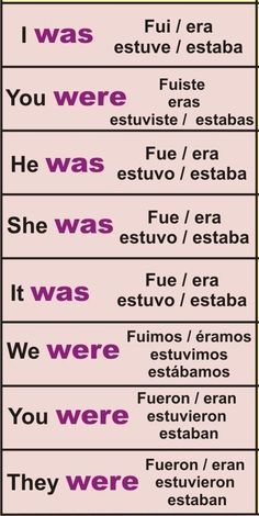 simple past of be #spanishlessons