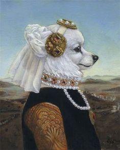Melinda Copper Anthropomorphic Dog Lady