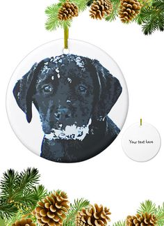 Black Lab Ornament Black Lab Art 12icb Labrador Ornament Black Labs Personalised Christmas Cards