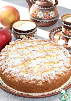"""Пирог с яблоками """"Нежный"""" - кулинарный рецепт"""