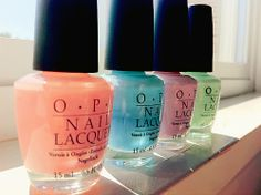 Good morning.... no sun out there but still feel like a beautiful spring day! and yes those OPI are pretty awesome