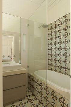 Boy's ensuite with Jatana tiles. Brooke Aitken Design