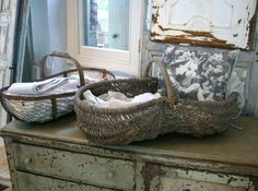 beautiful old baskets