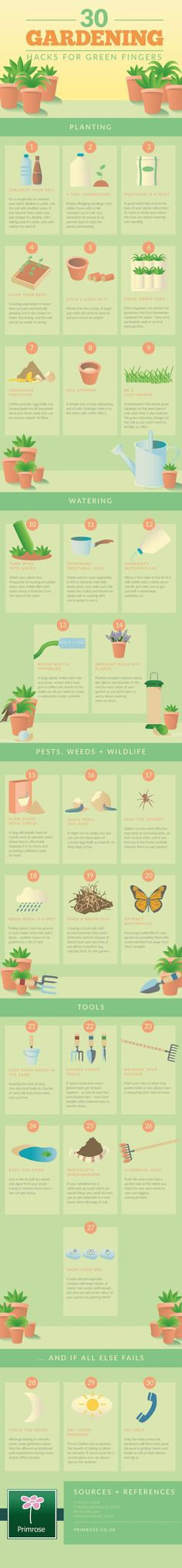 time-saving gardening hacks - including advice for repelling pests, attracting butterflies and more.