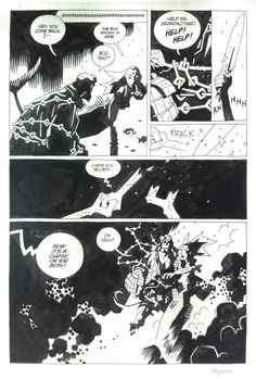MIKE MIGNOLA - HELLBOY THIRD WISH #2 page 13 / THE ART OF HELLBOY page 185 Comic Art