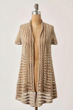 new crochet fashion . coats crochet cotton - موقع لكي انتي 24