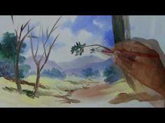 Super Aula: Paisagem-2: Video Aula de Pintura