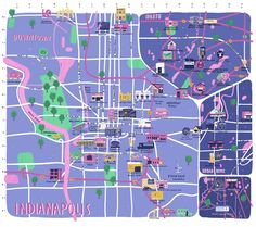The Indianapolis Craft Beer Map by Alex Foster