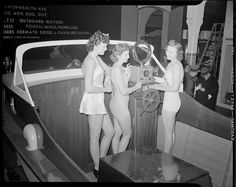 File name: 08_06_021199  Title: Bathing beauties aboard motor boat at boat show  Creator/Contributor: Jones, Leslie, 1886-1967 (photographer)  Date created: 1934 - 1956 (approximate)  Physical description: 1 negative : film, black & white ; 4 x 5 in.   Ge Perception may be the reality but if your worried about overweight you are