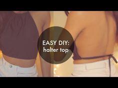 DIY Halter American Apparel Inspired Halter Crop Top (Sewing) [EASY] - YouTube