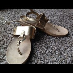 Gold Sandals By BCBGeneration size 8 Pre loved gold sandals by BCBG size 8 BCBGeneration Shoes Sandals