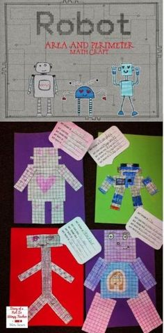 Area and perimeter robots! A fun math craft that students LOVE! by janelle