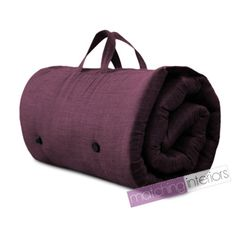 Details About Plum Purple Travel Guest Sleepover Mattress Roll Up Futon Z Bed Gap Year Student
