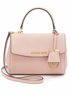 42f8af373e6a Pre-owned Michael Kors Ava Extra-small Saffiano Leather Ballet Cross... Pink  Shoulder BagsMichael ...