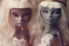 monster high doll repaints - twins!