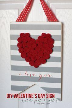 eighteen25: DIY Valentine's Day Sign