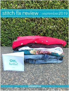 Stitch Fix Review September 2019 is live and I love this fun, and colorful early fall box. Stitch Fix is an online personal styling service that I've been receiving for years. Click through for my full review & to see each piece I received in outfits. #personalshopper #outfitideas #womensfashion September Stitch Fix, Morning Songs, Stitch Fix Fall, Stitch Fix Outfits, Stitch Fix Stylist, Wrap Blouse, Free People Dress, Fashion Online, Personal Style
