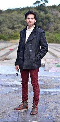 Moda masculina   Tendência Burgundy em looks para eles. O vinho é o novo preto