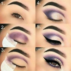 Ideas for eye makeup # makeup # eyeshadow # eyeliner ma - make_up_pintennium Eye Makeup Steps, Simple Eye Makeup, Smokey Eye Makeup, Eyeshadow Makeup, Eyeshadow Ideas, Makeup Mascara, Eyeliner Pen, Eyeshadow Palette, Makeup Brushes
