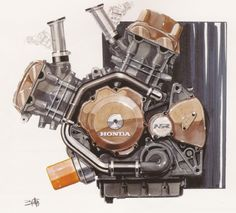 Honda Motorcycle Design: Illustrations » ISO50 Blog – The Blog of Scott Hansen (Tycho / ISO50)