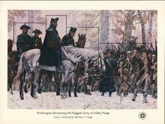 US Scott 1689 Stamps MNH-Washington at Valley Forge Stamps-full souvenir sheet of 5 mint postage stamps for sale-US Westerns, Nature Sauvage, Valley Forge, American Revolution, Old West, Stamp Collecting, My Stamp, Postage Stamps, American History