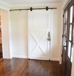 Tutorials on how to build a sliding barn door and inexpensive hardware options.