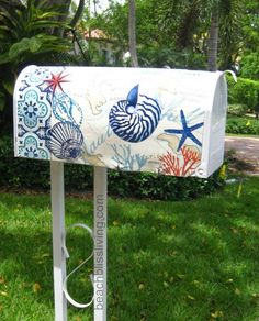 21 Awesome .. beachy mailbox