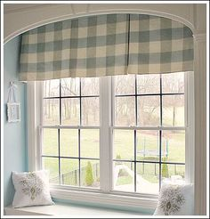 A box pleat curtain was the best choice for this window treatment idea. I love box pleat curtains because they are easy to make and do not take a ton of fabric!