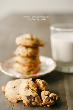 Peanut Butter & Honey Chocolate Chip Cookies