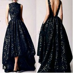 Find More Prom Dresses Information about 2016 Arabic Hi Low Black Prom dresses Vintage 2016 Occasion High Neck Backless Formal Women Party Gowns Lace Evening Dresses,High Quality gown evening dress,China dress wedding gown Suppliers, Cheap dress matching Backless Prom Dresses, Black Prom Dresses, Lace Dresses, Sexy Dresses, Dress Lace, Black Dress Backless, Elegant Dresses, Black Gowns, Backless Gown