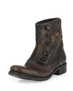 Bowery+Button+Boot,+Gray+by+John+Varvatos+at+Neiman+Marcus.