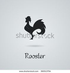 Rooster, cock, chicken vector illustration. Logo design. Emblem, symbol. - stock vector