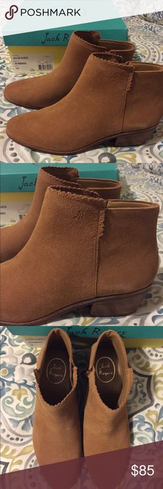 NWT Jack Rogers Bailee Soft Suede Booties Perfect for transitioning into spring! 🌷I sadly bought them a size too small and can't return. Absolutely beautiful and high quality suede - exactly what you would expect from the Jack Rogers. Please ask if you have any questions- All offers considered! Comes with box. Make me an offer :) Jack Rogers Shoes Ankle Boots & Booties