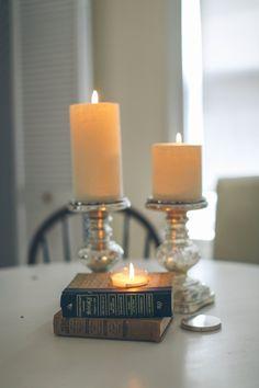 Vintage Book Candle Planter