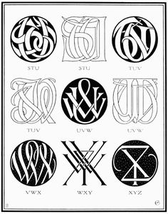 PLATE CXVI—THREE-LETTER CIPHERS AND MONOGRAM