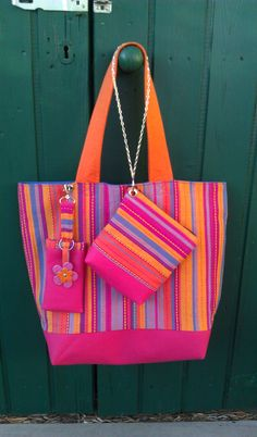 Jazzy accessories with handmade #tote bag.