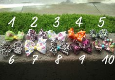 Simple Medium boutique bows by SewGurlyBowtique on Etsy, $2.50
