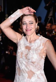 """Valeria Bruni-Tedeschi Photos - Valeria Bruni Tedeschi attends the """"Slack Bay (Ma Loute)"""" premiere during the 69th annual Cannes Film Festival at the Palais des Festivals on May 13, 2016 in Cannes, France. - 'Slack Bay (Ma Loute)' - Red Carpet Arrivals - The 69th Annual Cannes Film Festival"""