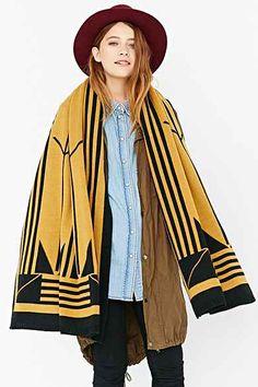 Kilim Blanket Scarf the art deco movement