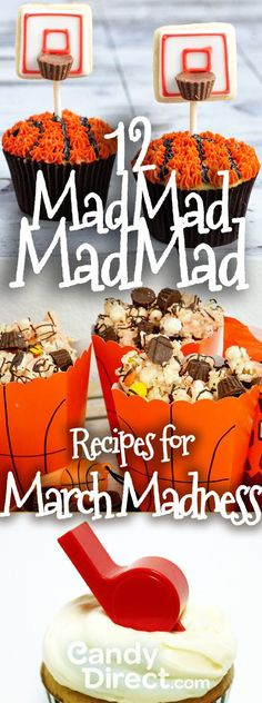 March Madness snacks and basketball recipes