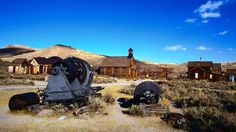 the ghost town of Bodie, CA